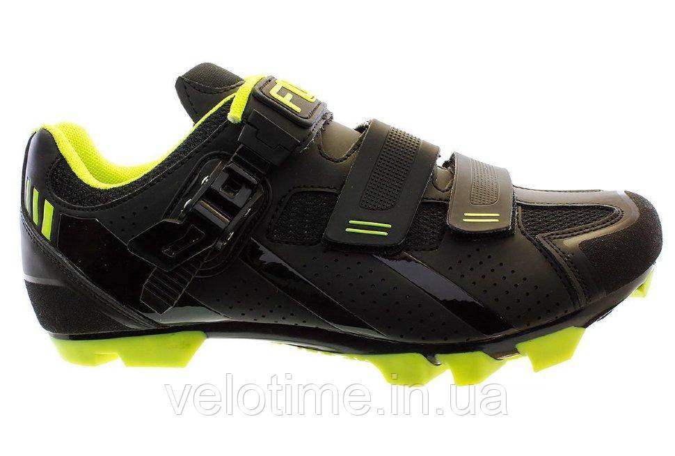 Велосипедные туфли МТБ FLR F-65  (39р., черный-желтый)