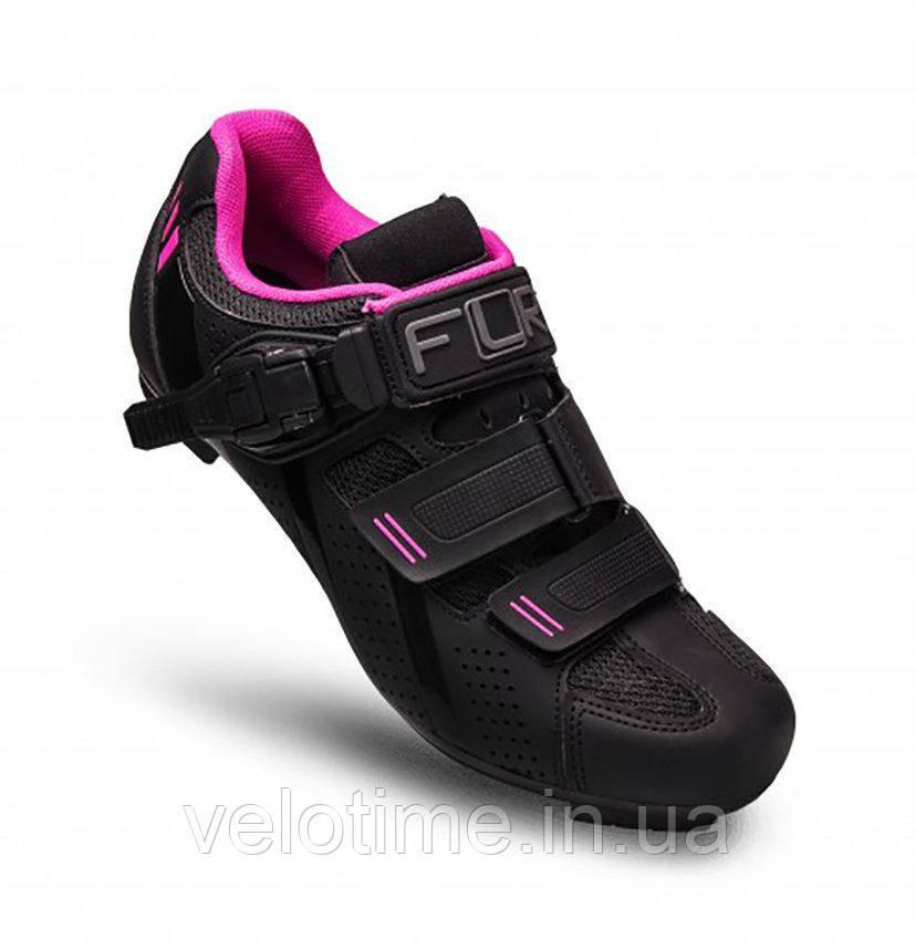 Велосипедные туфли МТБ FLR F-65  (36р., черный-розовый)