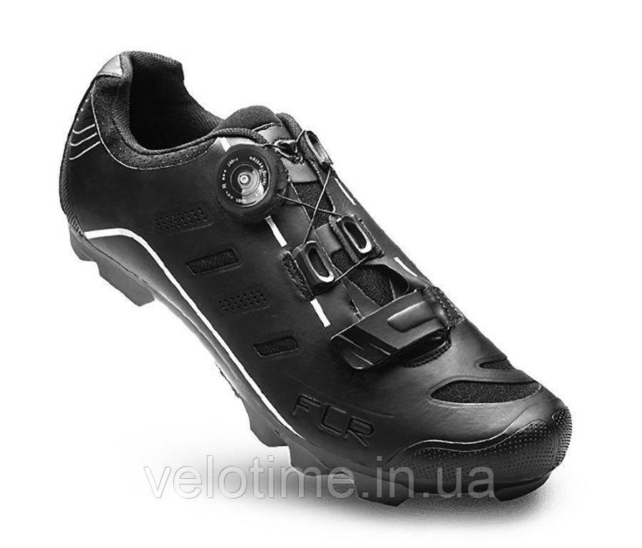 Велосипедные туфли МТБ FLR F-75 + носки (46р., черный)