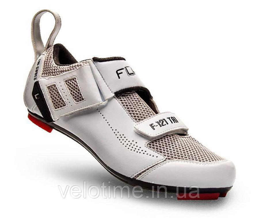 Велосипедные туфли триатлон FLR F-121  (44р., белый)