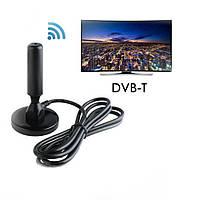 Комнатная антенна для телевизора Sonar DAT-01 DVB-T/T2 Black для TV Т2