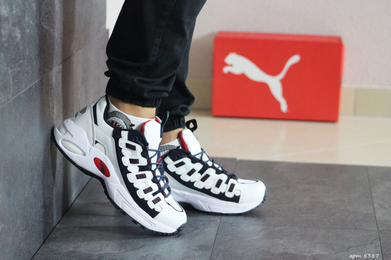 Мужские кроссовки Puma CELL Endura (белый с темно-синим)