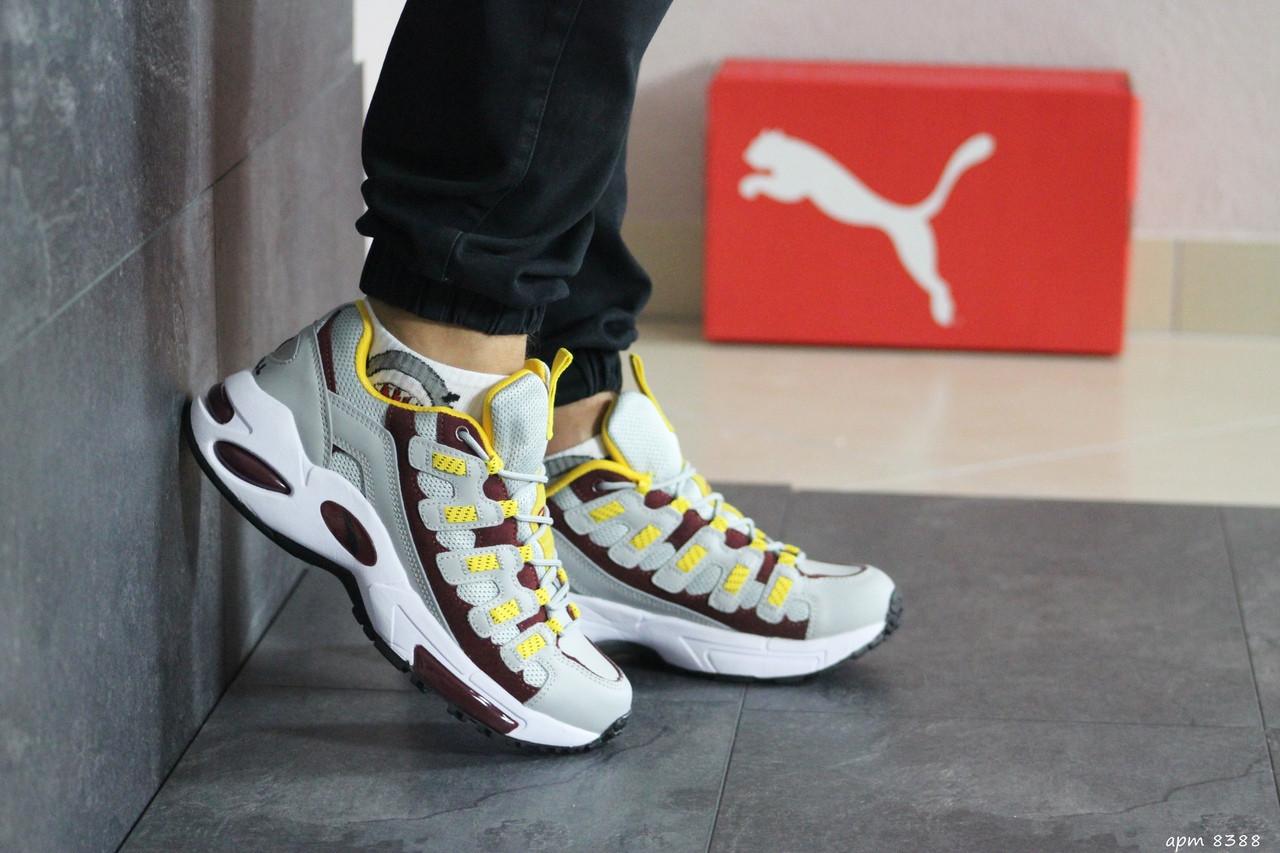 Мужские кроссовки Puma CELL Endura (серо-желтый)