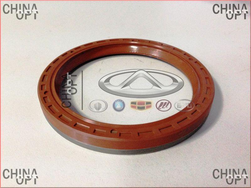 Сальник коленвала задний, 480E*, 477F, Chery Amulet [1.6,до 2010г.], 480-1005030BA, ElringKlinger