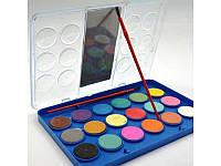 Краски акварельные металлик 18 цветов с кисточкой