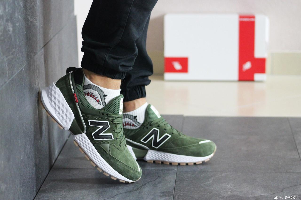 Мужские кроссовки New Balance 574 (темно-зеленый)