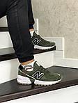 Чоловічі кросівки New Balance 574 (темно-зелений), фото 2