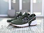 Чоловічі кросівки New Balance 574 (темно-зелений), фото 4
