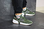 Мужские кроссовки New Balance 574 (темно-зеленый), фото 6