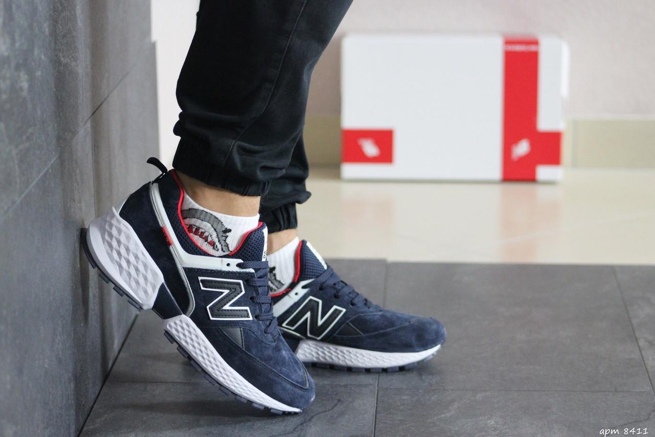 Мужские кроссовки New Balance 574 (сине-белые)