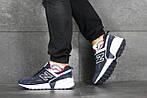 Чоловічі кросівки New Balance 574 (синьо-білі), фото 4
