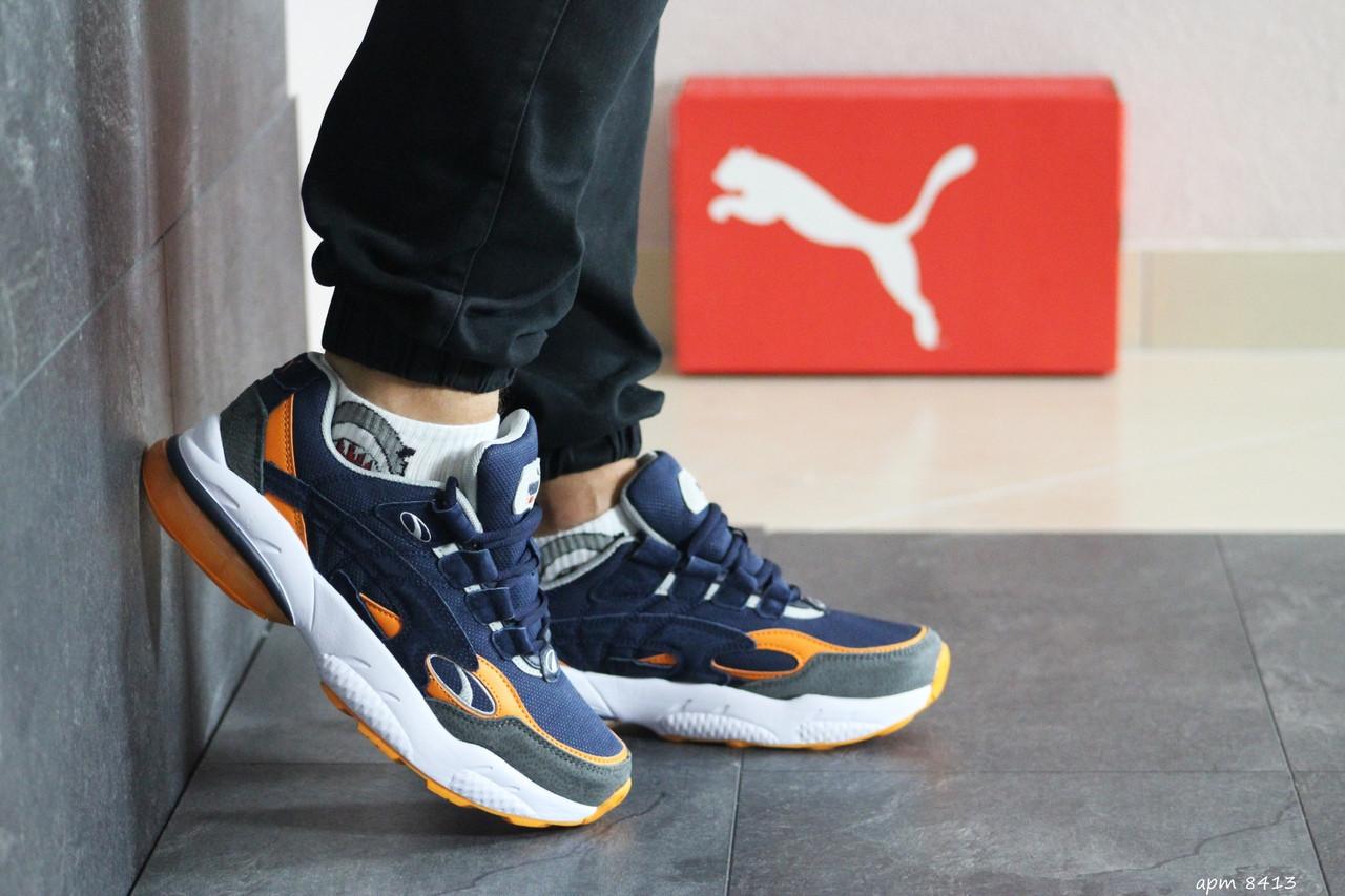 Мужские кроссовки Puma Cell Venom (сине-оранжевые)