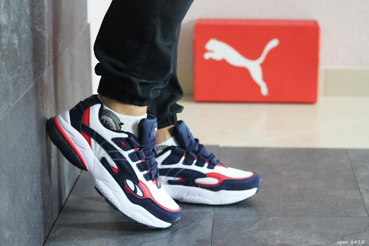 Мужские кроссовки Puma Cell Venom (сине-белые)