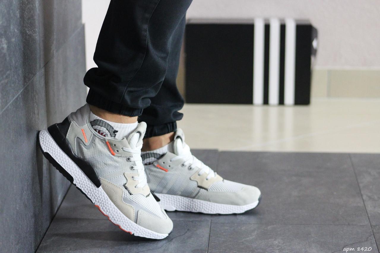 Мужские кроссовки Adidas Nite Jogger Boost (бежевые)