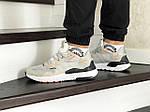 Чоловічі кросівки Adidas Nite Jogger Boost (бежеві), фото 4