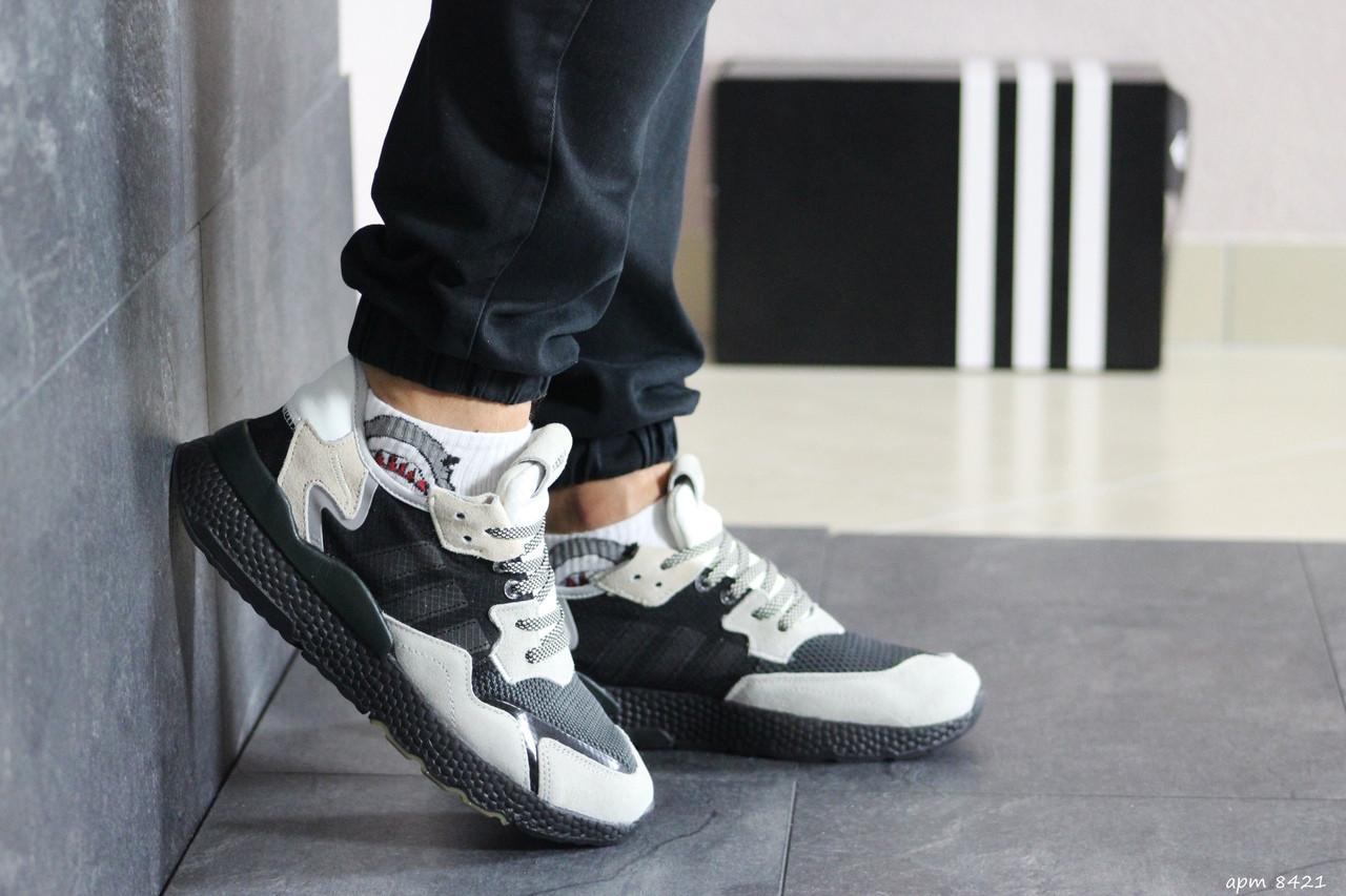 Чоловічі кросівки Adidas Nite Jogger Boost (бежево-чорні)