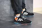 Мужские кроссовки Adidas Nite Jogger Boost (черно-серые), фото 2