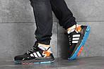 Мужские кроссовки Adidas Nite Jogger Boost (черно-серые), фото 3