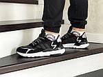 Чоловічі кросівки Adidas Nite Jogger Boost (чорно-білі), фото 2