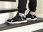 Мужские кроссовки Adidas Nite Jogger Boost (черно-белые), фото 2