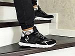Чоловічі кросівки Adidas Nite Jogger Boost (чорно-білі), фото 5
