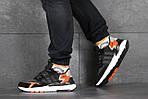 Мужские кроссовки Adidas Nite Jogger Boost (черно-белые), фото 5