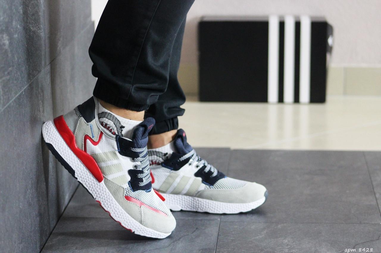 Чоловічі кросівки Adidas Nite Jogger Boost (біло-чорний)