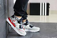 Мужские кроссовки Adidas Nite Jogger Boost (бело-бежевые)
