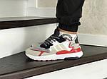 Мужские кроссовки Adidas Nite Jogger Boost (бело-бежевые), фото 4