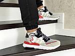 Мужские кроссовки Adidas Nite Jogger Boost (бело-бежевые), фото 5