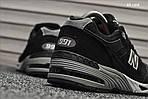 Чоловічі кросівки New Balance 991 (чорні), фото 3