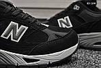 Чоловічі кросівки New Balance 991 (чорні), фото 4