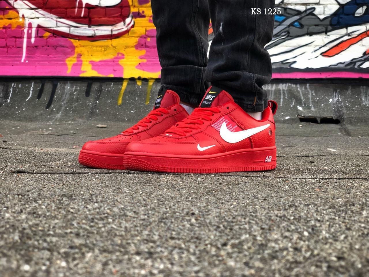 Мужские кроссовки Nike Air Force 1 LV8 (красно/белые)