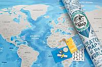 Скретч карта мира Discovery День Святого Валентина