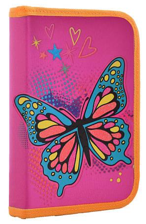 Пенал твердый 1 Вересня одинарный с клапаном Butterfly, 20.5*14*3.5                       , фото 2