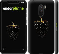 """Чехол на Xiaomi Pocophone F1 Черная клубника """"3585c-1556-851"""""""