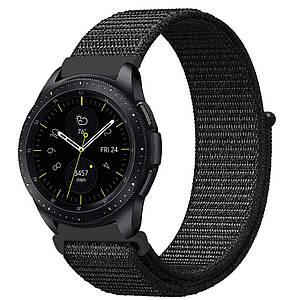 Ремешок BeWatch нейлоновый липучка для Samsung Galaxy Watch 46 мм Черный (1021301.1)