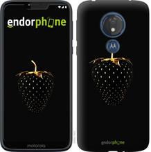 """Чехол на Motorola Moto G7 Power Черная клубника """"3585u-1657-851"""""""