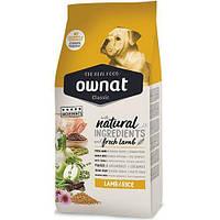 Сухой корм Ownat Classic Lamb & Rice для взрослых собак, с ягненком и рисом, 20 кг