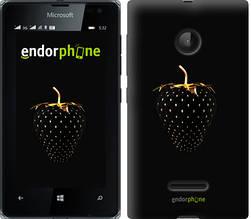 """Чехол на Microsoft Lumia 532 Dual Sim Черная клубника """"3585u-151-851"""""""