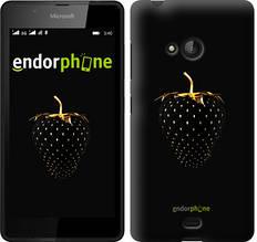 """Чехол на Microsoft Lumia 540 Dual SIM Черная клубника """"3585u-246-851"""""""