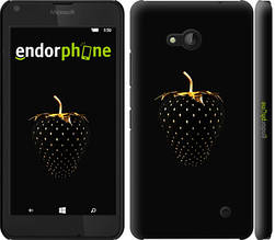"""Чехол на Microsoft Lumia 640 Черная клубника """"3585c-273-851"""""""