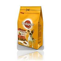 Pedigree Mini сухой корм для взрослых собак от 1 года малых пород до 10 кг с говядиной и овощами, 400 г
