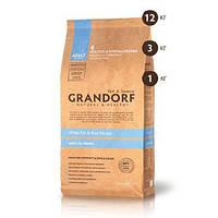 Сухой корм Grandorf White Fish & Rice All Breeds для взрослых собак белая рыба, 12 кг