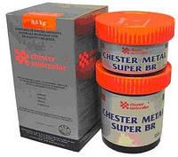 Двухкомпонентный металлонаполненый композитный состав для ремонта изделий из бронзы Chester Металл Super Br