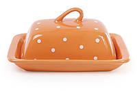Масленка, цвет - оранжевый в белый горошек BonaDi 593-241
