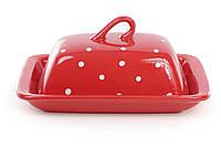 Масленка, цвет - красный в белый горошек BonaDi 593-209