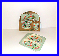 Набор детской бамбуковой посуды, маленькая