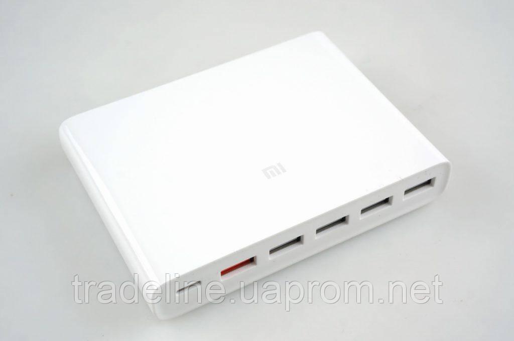 Сетевое зарядное устройство Xiaomi Mi USB Multiple Hub 60W Fast Charger 6 port White (CDQ06ZM)