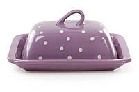 Масленка, цвет - фиолетовый в белый горошек BonaDi 593-210